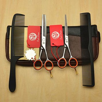 4Pcs Suit 5.5'' Hairdressing Cutting Shears | Scissors Set Styling Tool