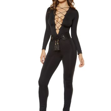 Strappy Lace-up Jumpsuit