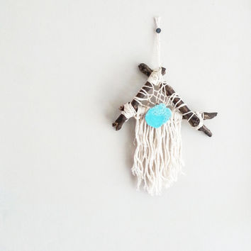 Dream Catcher- DreamCatcher- Turquoise Wall Decor- Wall Accent- Bohemian decor- Boho Decor- Native- Home Decor- Hippie- Mermaid- Triangle