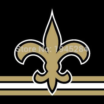 NFL New Orleans Saints with Three Lines Flag Banner 3x5FT 90x150CM New Polyester, free shipping