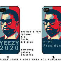 Kanye West For President Pols Yeezy 2020 rapper iphone and samsung galaxy case