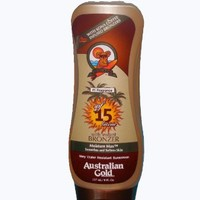 Australian Gold SPF 15 Broad Spectrum Sunscreen Lotion with Kona Bronzers, 8 Ounce