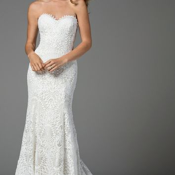 Watters Taylor Strapless Lace Mermaid Gown (In Stores Only) | Nordstrom