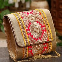 Pink & Yellow Gulabi Clutch