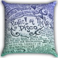 Panic at The Disco Lyric art Zippered Pillows  Covers 16x16, 18x18, 20x20 Inches
