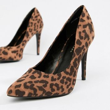 New Look Leopard Court Shoe at asos.com