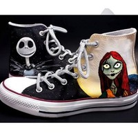 Nightmare before christmas shoes - Free Shipping Hand Painted Shoes from denimtrend