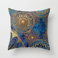time; Throw Pillow by Pink Berry Patterns