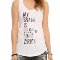 Song Lyrics Girls Tank Top