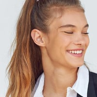 Fuzzy Scrunchie   Urban Outfitters