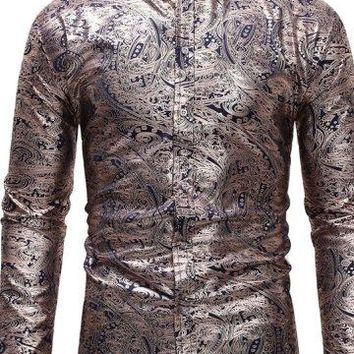 Occassional Metallic Paisley Shirts - 3 Colors