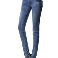 Essential Buttoned High Waisted Skinny Jeans - OASAP.com