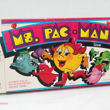 Ms. Pac Man Board Game from Milton Bradley 1982 COMPLETE