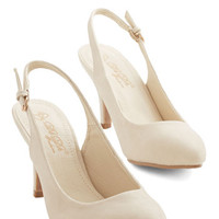 ModCloth Minimal Slingback to the Basics Heel in Cream