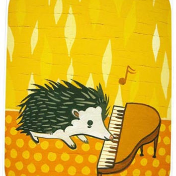 Hedgehog Piano Art Print