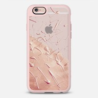 Pastel Rose Gold Rain - Transparent iPhone 6s case by Lisa Argyropoulos | Casetify