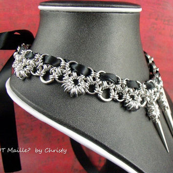 Necklace  Princess Chainmaille Collar by GOT Maille?  By Christy