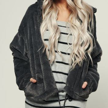 Draw The Line Jacket (Charcoal)