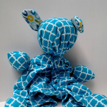 "Stuffed Animal - Baby Plush - Childs Stuffed Doll - Lovey Toy - Baby Boy Gift - Handmade Baby Toy - Cloth Doll - 100% Cotton - 12""-13"" Tall"