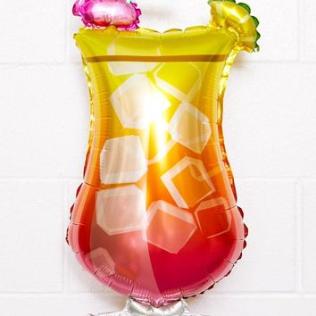 Large Tropical Drink Party Balloon