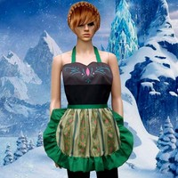 Anna Coronation Apron Cosplay Costume Frozen Inspired S-L