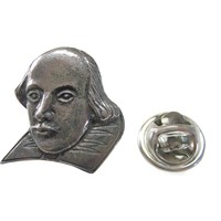 William Shakespeare Head Figure Lapel Pin