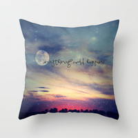Anything could happen Throw Pillow by M✿nika  Strigel	 | Society6