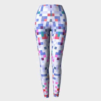 Pastel Leggings, Printed Leggings, High Waisted Leggings, Cute Leggings, Women Leggings, Workout Leggings, Yoga Leggings, Geometric Leggings