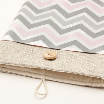 iPad AIR case. iPad mini with retina display or iPad case with chevron pocket, sleeve, bag, pouch. Tablet case. iPad 1 2 3 4 cover.