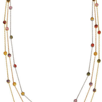 Multi Colored 14k Solid Gold Necklace Seed White Gold Rose Gold Yellow Gold