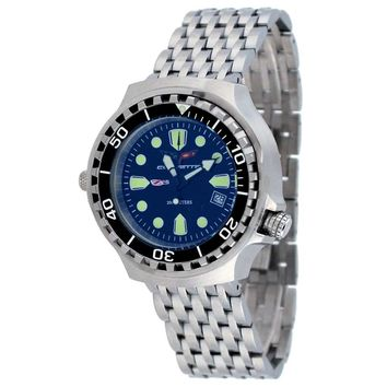 Corvette CR285BLU Men's Z06 Collection Stainless Steel Blue Dial Swiss Dive Watch