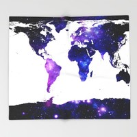 world map. Throw Blanket by WhimsyRomance&Fun