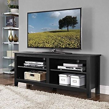 NEW! Black Furniture 58 Inch Wood TV Console