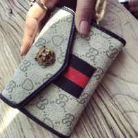 GUCCI Women Leather Purse Walle