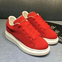 Alexander Mcqueen Woman Men Fashion Sneakers Sport Shoes