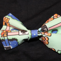 Super Mario Brothers Map Hair Bowtie Game Inspired Hair Bow