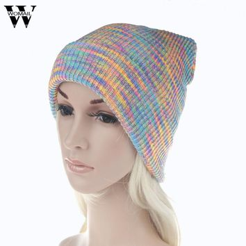 Colorful Women Baggy Warm Crochet Winter Knit Ski Beanie Skull Slouchy Caps Hat New Arrival