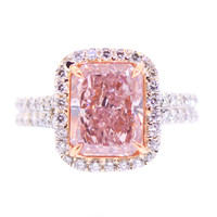 3 Carat Natural Pink Diamond Ring