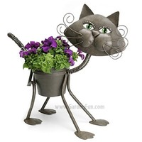 "Large Glamour Cat - Cat indoor or outdoors (garden) décor plant stands. Holds 6"" grower pot - 19"" inches tall"