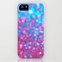 Blue Pink Sparkle Blur iPhone Case by Rex Lambo | Society6
