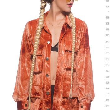 Military Jacket in Fire Opal