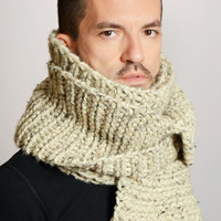 The Man Scarf in Oatmeal by stepcat on Etsy