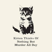 Women's Kitten Thinks Of Nothing T-Shirt