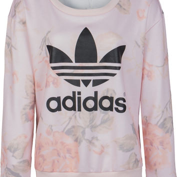 Adidas Casual Letter Print Top Sweater Sweatshirt