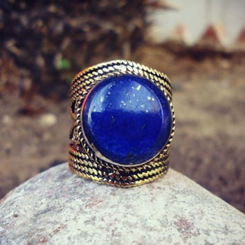 Chunky Trinket Rings-Vintage Afghan rings-Rainbow rings.Gypsy Bohemian Jewelry.Antique ring.Lapis Lazuli-Aqeeq-Agate-Red Coral Rings.Rings.