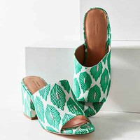 Palm Pattern Heeled Mule - Urban Outfitters