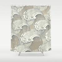 waves Shower Curtain by Studio VII