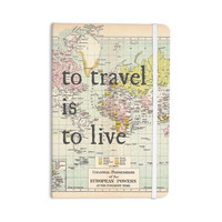 "Catherine Holcombe ""To Travel Is To Live"" Color Map Everything Notebook"
