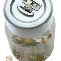 DIGITAL COIN COUNTER LCD DISPLAY SAVING JAR MONEY BOX COUNTERS COUNTS COINS