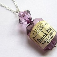 Alice In Wonderland 'Drink Me' Necklace